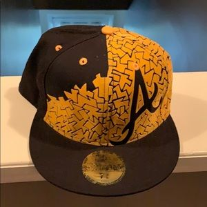 ATL fitted hat (Black/Yellow & Navy/Red)